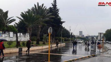 Photo of هطولات مطرية بمعظم المحافظات أغزرها في اللاذقية وطرطوس