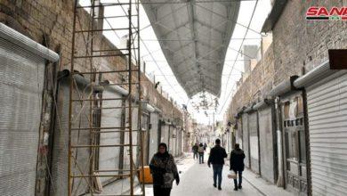 Photo of بخطا متسارعة.. إعادة تأهيل وترميم سوق الخابية بحلب القديمة المتضرر من الإرهاب