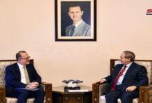 Photo of المقداد يبحث وعزيز التنسيق والتعاون القائم بين الحكومة السورية ومنظمة اليونيسف
