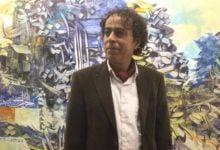 Photo of أكسم طلاّع في معرضه.. طلع إلى غيم الحروف فهطلت أبجدية فنية خاصة بإبداعه