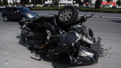 Photo of وفاة شخص وإصابة آخر جراء تدهور شاحنة واصطدامها بعدد من السيارات في دمر بدمشق