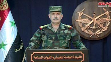 Photo of القيادة العامة للجيش: استعادة السيطرة على العديد من البلدات والقرى والتلال الحاكمة بريف إدلب الجنوبي