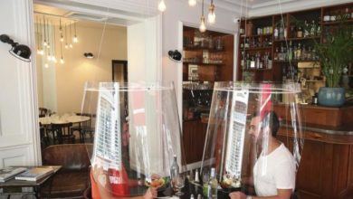 Photo of في زمن كورونا..ابتكارات المطاعم لتطبيق التباعد الاجتماعي