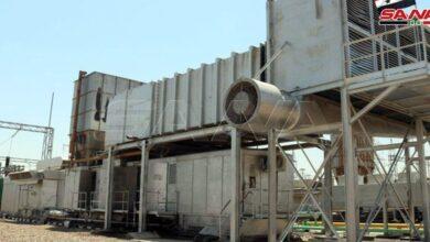 Photo of وضع المجموعة الغازية الثانية لتوليد الكهرباء بمحطة التيم في ريف دير الزور بالخدمة بعد تأهيلها