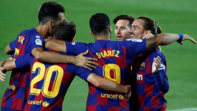 "Photo of "" رباعية "" تعيد برشلونة إلى الدوري الإسباني"